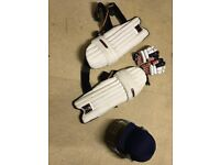 Cricket gear, in very good condition. Comes with helmet, pads and gloves. And a bag is optional.