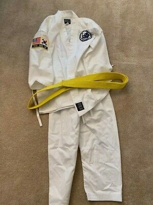 Tang Soo Do Youth Uniform with Yellow Belt and patches - From PKSA Karate