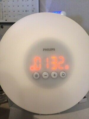 Philips Wake-Up Light Alarm Clock White (HF3500)
