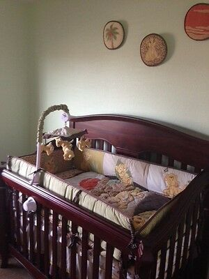Baby Lion King themed crib and chest (Crib Chest)