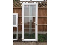 Georgian UPVC Patio Rear Door with Frame & 2 Side Windows with Sash Opening in Mint Condition