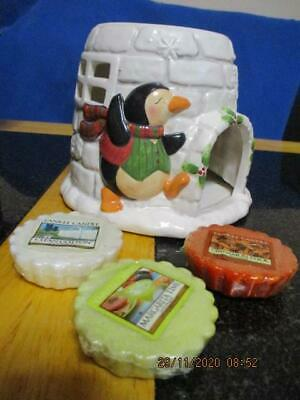 YANKEE CANDLE IGLOO TART WARMER from PENGUIN COLLECTION 2 Free TARTS +TEALIGHT