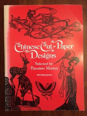 Chinese Cut-Paper Designs, Theodore Menten, 269 illus., Pandas, Dragons, Tigers