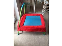 INDOOR/OUTDOOR MINI TRAMPOLINE WITH HANDLE BAR (FROM EARLY LEARNING CENTRE)
