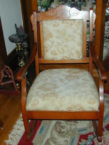 "ANTIQUE ""EASTLAKE"" ROCKING CHAIR IN EXCELLENT CONDITION!!!"