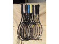 Some ex professional grade tennis rackets