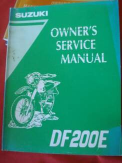 SUZUKI DF200E   FACTORY MOTORCYCLE WORKSHOP SERVICE MANUAL c1995 Dianella Stirling Area Preview