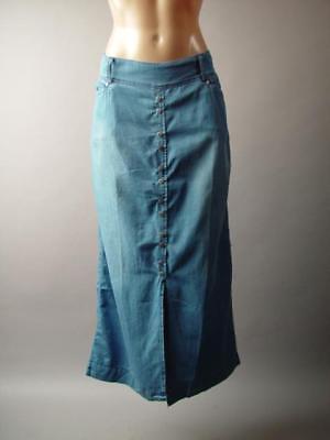 - Denim Chambray Western 70s Prairie Vtg Americana Long Maxi 275 mv Skirt S M L XL
