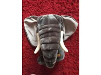 Puppet Co. Large elephant hand puppet with moving mouth
