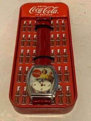 Coca Cola Vintage Watch in Refrigerator Tin Case New