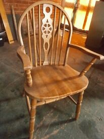 SOLID WOODEN CARVER CHAIR