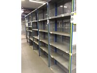 job lot 10 bays DEXION impex industrial shelving 2.4 meters high ( pallet racking , storage)