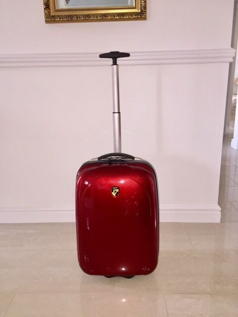 Bright Red small suitcase - walk on size - very lightweight | in ...