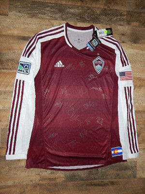 Authentic Colorado Rapids 2013 Adidas Football MLS Soccer Jersey XL NWT & SIGNED image