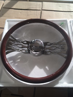 "Western Star 18"" Steering Wheel - Chrome Flames Mississauga / Peel Region Toronto (GTA) Preview"