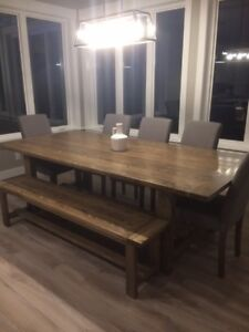 Custom Farmhouse Table With Bench
