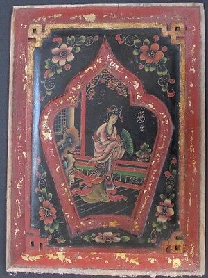 Antique Panel Wooden Painted China