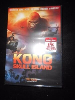 New     Kong   Skull Island     Dvd   2017  Factory Sealed