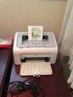 HP LaserJet P1005 black and white printer
