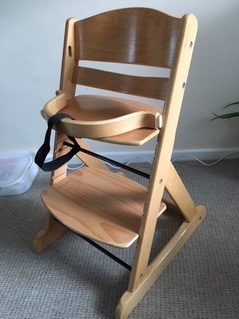 OBaby Megan wooden high chair with detachable safety bar | in ...