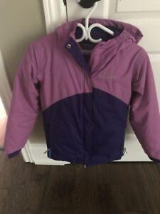 Girls Columbia 2pc SnowSuit  EUC Size 8-10 Medium