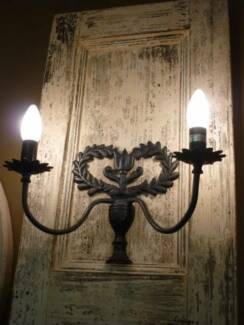 Wall Lights Wrought Iron French Inspired