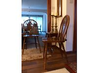 Victorian Elm & Ash Wheel back Windsor Chairs