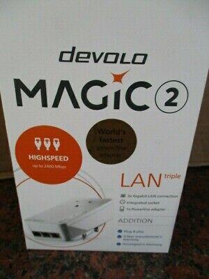 Devolo Magic 2 LAN Triple 3x Gigabit LAN Connection Up To 2400Mbps Powerline