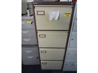 4 drawer metal filing cabinet with key