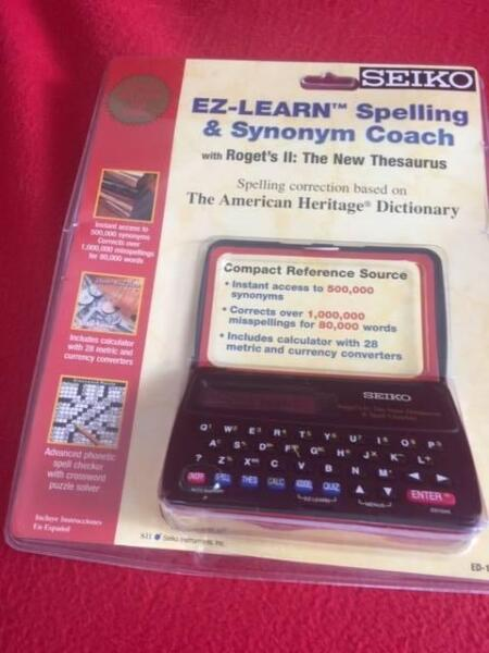 SEIKO EZ LEARN SPELLING AND SYNONYM COACH NEW/
