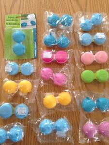 17 pairs of contact lens cases BRAND NEW