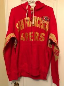NFL San Francisco 49ers Full Zip hooded Sweater NEW