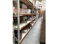 DEXION USED IN CLEAN ENVIRONMENT RACKING HEAVY DUTY CLEAN STORAGE / SHELVING