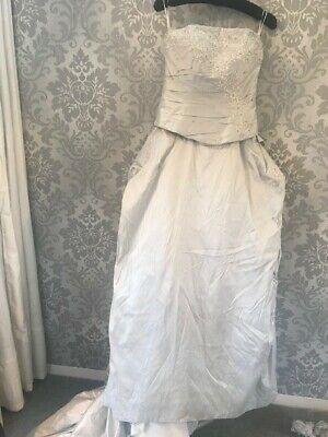 Justin Alexander 8366 Platinum/Silver wedding dress size 12usa