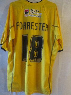 Forrester Bristol Rovers Match Worn Signed 2005-06 Football Shirt COA /20786 image