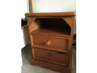 Solid wood bedside tables x2