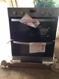 zanussi double electric oven, new, model zoe35511xk