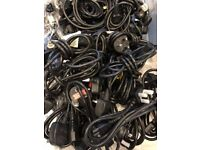 JOB LOT - 50 x Mains Computer PC cables LEADS (Kettle lead)