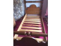 Solid Pine Single Bed with Matress Excellent Condition collection only