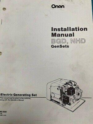 Onan Installation Manual Bgd Nhd - Gensets 965-0629 390
