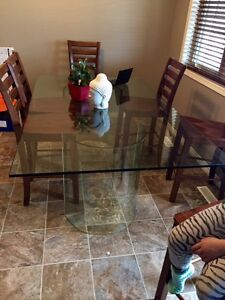 Tempered Glass Kitchen Table
