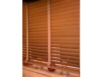 """Wood 2 inch slat venetian blind made by Hillarys curtains and blinds 46"""" x 46"""""""
