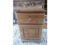 Rustic Pine Bedside Cabinet