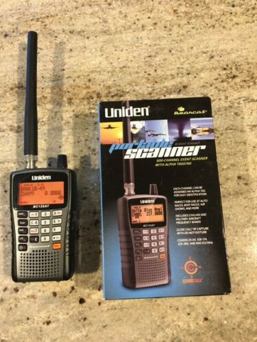 Uniden BC125AT Bearcat 500 Channel Alpha Tagged Portable Handheld Scanner *READ*