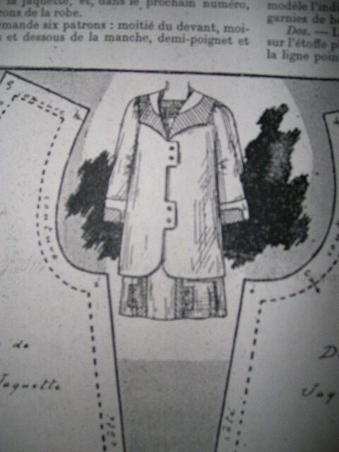 Bleuette 1911 the Tailored Suit Costume-Pattern Repro