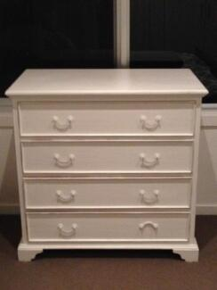 Shabby chic white chest of drawers Brunswick Moreland Area Preview