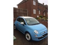 Fiat 500 Vintage 57, 65 model, Blue and Cream