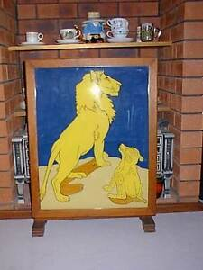 Unique hand made Fire screen & Occasional Table with Lions Hillarys Joondalup Area Preview