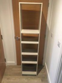 Wooden Office Shelves, Light Grey