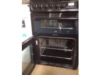 £128.79 Hotpoint Black ceramic electric cooker+60cm+3 months warranty for £128.79